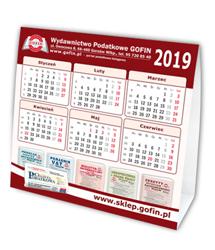 Kalendarz biurkowy na 2019 rok