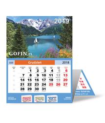 Kalendarz ścienny (trójdzielny) na 2019 rok