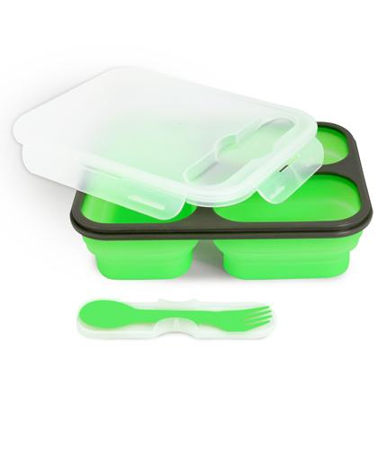 LUNCHBOX pojemnik na żywność silikonowy, trzykomorowy