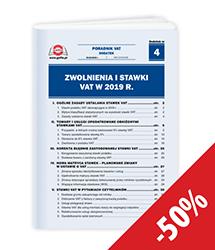 Zwolnienia i stawki VAT w 2019 r.