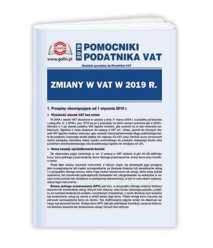 Pomocniki Podatnika VAT