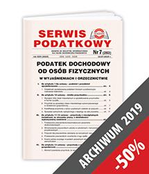 Serwis Podatkowy - Archiwum 2019