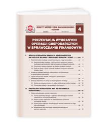 Prezentacja wybranych operacji gospodarczych w sprawozdaniu finansowym