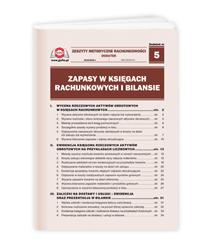 Zapasy w księgach rachunkowych i bilansie