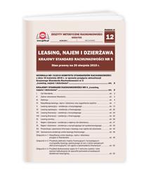 Leasing, najem i dzierżawa Krajowy Standard Rachunkowości nr 5. Stan prawny na 20 sierpnia 2019 r.