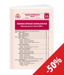 Kodeks spółek handlowych. Stan prawny na 1 marca 2020 r.
