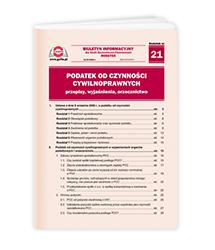Podatek od czynności cywilnoprawnych - przepisy, wyjaśnienia, orzecznictwo