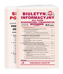 Biuletyn Informacyjny dla Służb Ekonomiczno-Finansowych z dodatkiem Serwis Podatkowy