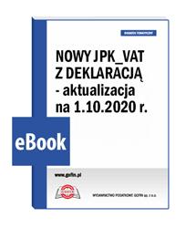 Nowy JPK_VAT z deklaracją - aktualizacja na 1.10.2020 r.
