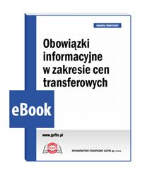 Obowiązki informacyjne w zakresie cen transferowych