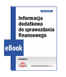 Informacja dodatkowa do sprawozdania finansowego