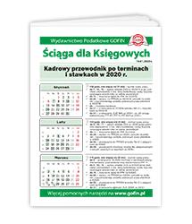 Kadrowy przewodnik po terminach i stawkach w 2020 r. - ściąga