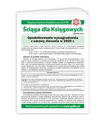 Opodatkowanie wynagrodzenia z umowy zlecenia w 2020 r. - ściąga