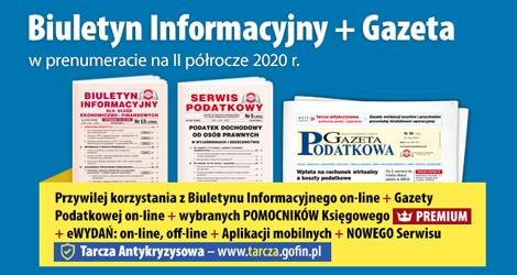Biuletyn Informacyjny i Gazeta w prenumeracie na  II półrocze 2020 r.- Komplet promocyjny nr 3