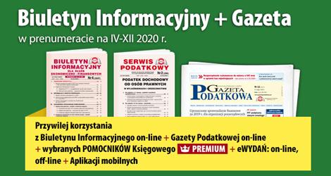 Biuletyn Informacyjny i Gazeta w prenumeracie na cIV-XII 2020 r. - Komplet promocyjny nr 3