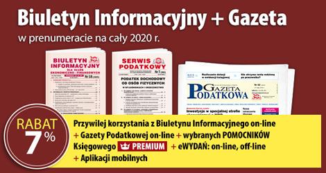 Biuletyn Informacyjny i Gazeta w prenumeracie na cały 2020 rok - Komplet promocyjny nr 3