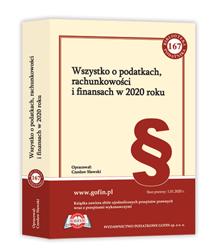 Książka Wszystko o podatkach, rachunkowości i finansach w 2020 roku