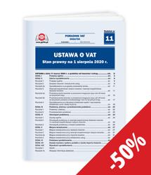 Ustawa o VAT. Stan prawny na 1 sierpnia 2020 r.