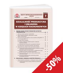 Działalność produkcyjna i usługowa w księgach rachunkowych