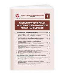 Rachunkowość spółek kapitałowych i osobowych prawa handlowego