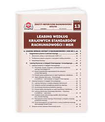 Leasing według Krajowych Standardów Rachunkowości i MSR