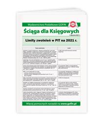 Limity zwolnień w PIT na 2021 r.
