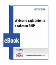 Wybrane zagadnienia z zakresu BHP