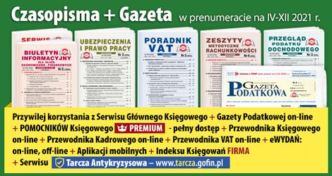 Wszystkie Czasopisma i Gazeta w prenumeracie na IV-XII 2021 rok - Komplet promocyjny nr 1