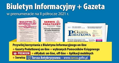 Biuletyn Informacyjny i Gazeta w prenumeracie na  II półrocze 2021 r.- Komplet promocyjny nr 3