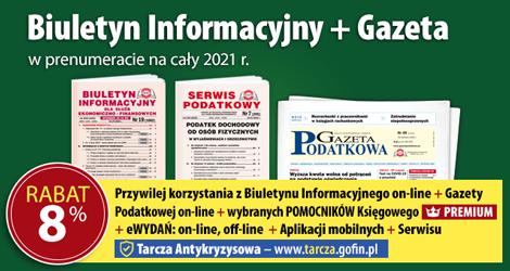 Biuletyn Informacyjny i Gazeta w prenumeracie na cały 2021 rok - Komplet promocyjny nr 3