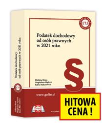Książka Podatek dochodowy od osób prawnych w 2021 roku