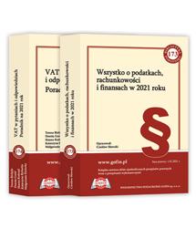 2 książki z cyklu Biblioteka Podatnika 2021