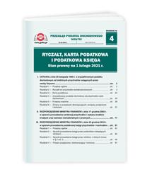 Ryczałt, karta podatkowa i podatkowa księga. Stan prawny na 1 lutego 2021 r.