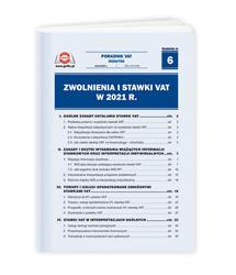 Zwolnienia i stawki VAT w 2021 r.