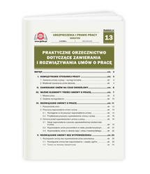 Praktyczne orzecznictwo dotyczące zawierania i rozwiązywania umów o pracę