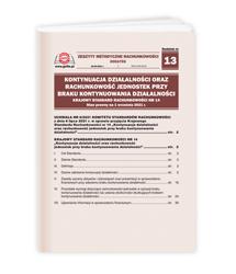 Kontynuacja działalności oraz rachunkowość jednostek przy braku kontynuowania działalności, Krajowy Standard Rachunkowości nr 14. Stan prawny na 1 września 2021 r.