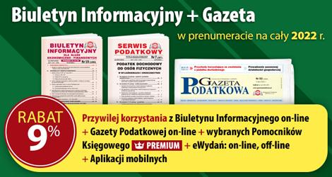 Biuletyn Informacyjny i Gazeta w prenumeracie na cały 2022 rok - Komplet promocyjny nr 3