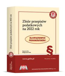 Zbiór przepisów podatkowych na 2022