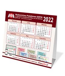 Kalendarz biurkowy na 2022 rok